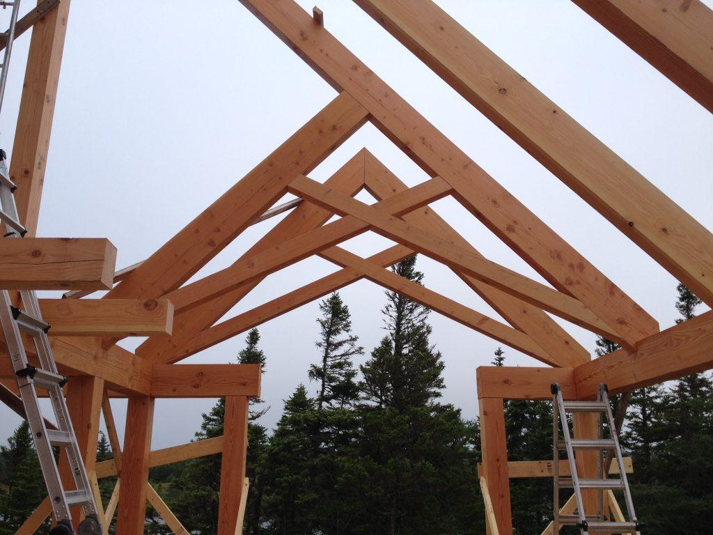 timberframe poutre et poteau toît structure