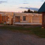 maison bois rond scandinave