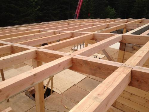 structure de toit piece sur piece